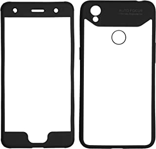 For Infinix Hot 5 X559C case 360 Degree Auto Focus 2 pieces front and back With Out Screen - Clear & Black