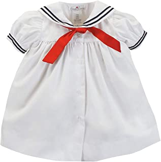 Baby Girls' Nautical Dress with Collar