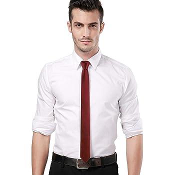 Landisun Solid Tie Satin Tie Slim Tie Exclusive Necktie Skinny Tie
