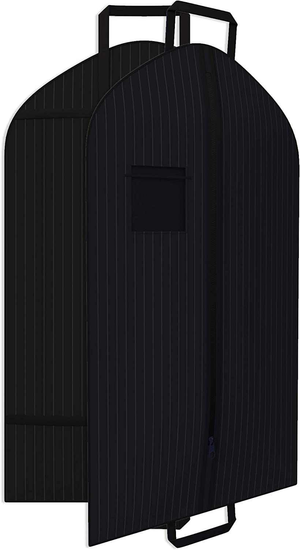 Black Boston Mall Suit Garment Travel Bags -ID Purchase Durable Dut Heavy Window Tag
