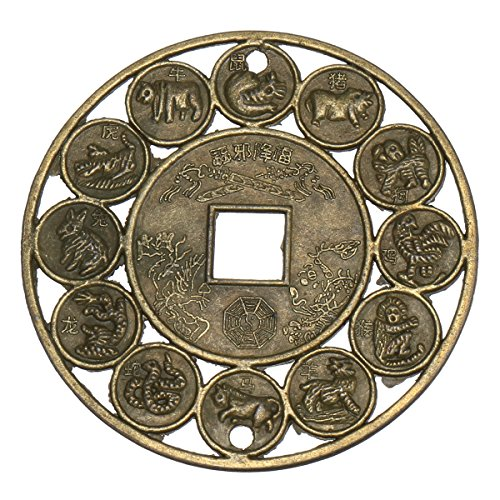 GOZAR Lucky Zodiaco Chino Feng Shui Auspicioso Monedas Para La Protecc