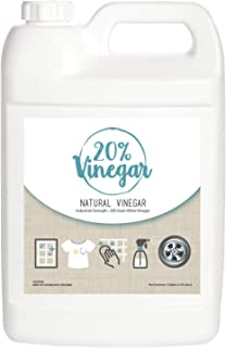 20% White Vinegar - 200 Grain Vinegar Concentrate - 1 Gallon of Natural and Safe Multi-Use Concentrated Ind...