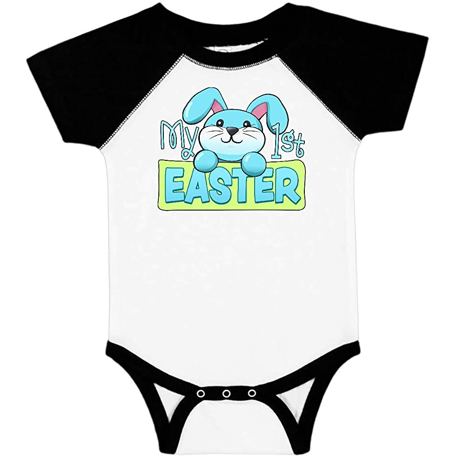 inktastic My First Easter Cuddly Blue Bunny Infant Creeper