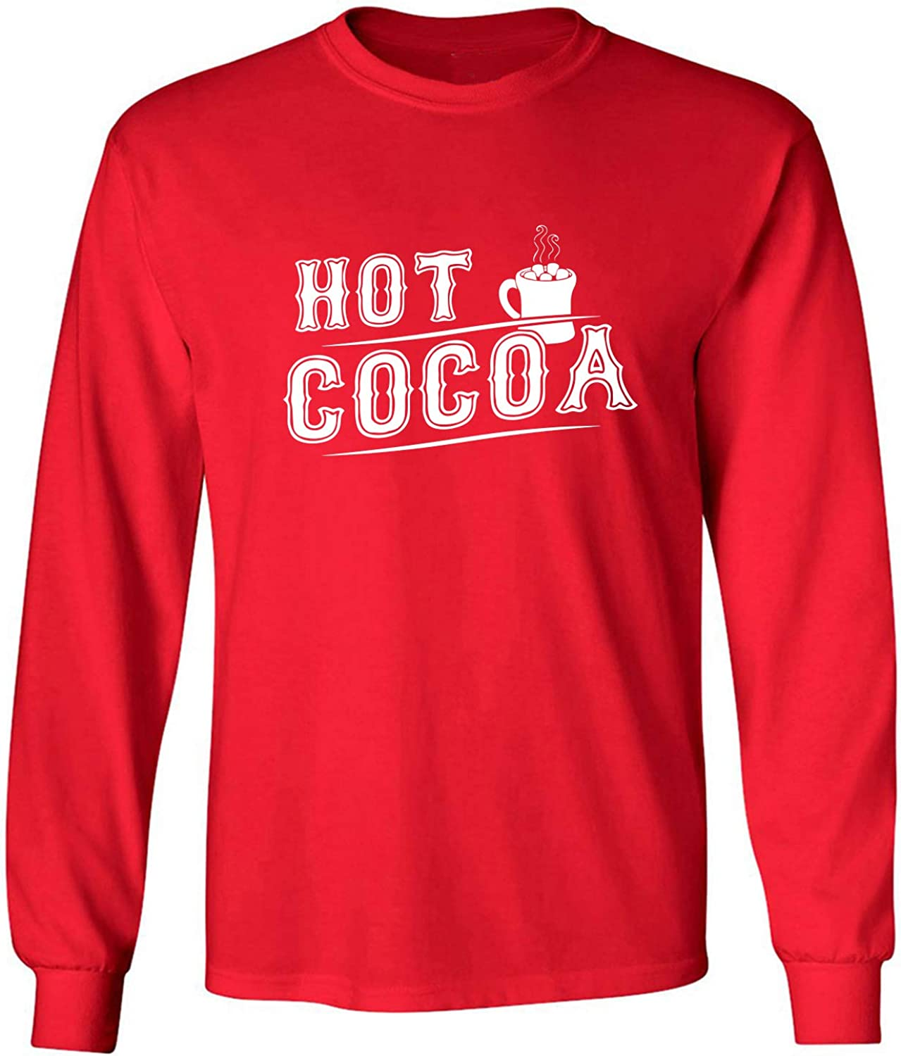 Hot Cocoa Adult Long Sleeve T-Shirt in Red - XXXX-Large