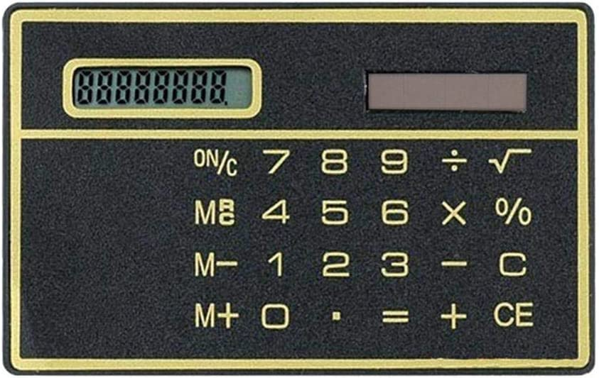 8 Spring Long-awaited new work one after another Digit Ultra Thin Solar Power Cred Touch with Screen Calculator