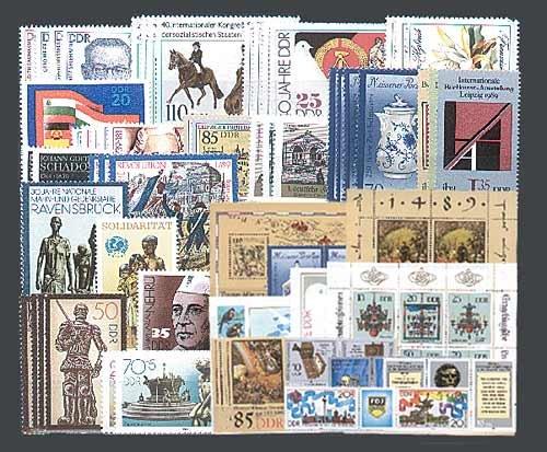 Goldhahn DDR Jahrgang 1989 postfrisch komplett Briefmarken für Sammler