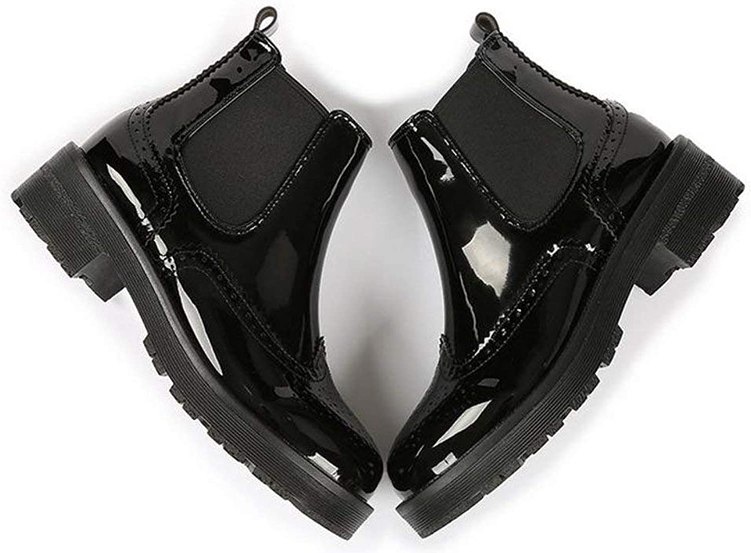 Oudan England Chelsea - Boots, Black, 39 (color   As shown, Size   One size)