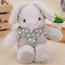 CPFYZH 48Cm Cute Big Ears Cute Rabbit Rabbit Plush Toy Scarf Doll Girl Niños Acompañando Sleeping Doll-Gray_Full Length 48Cm (35Cmi Sin Orejas)