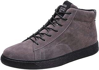SoonerQuicker Chaussures décontractées pour Hommes Bottes Bottines Chaudes Bottes de Neige d'hiver Bottes en Cuir Bottes d...