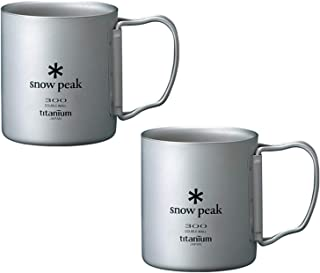 Snow Peak Titanium Double Wall Cup 300 - 2 Pack