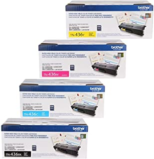 Brother TN436BK, TN436C, TN436Y, TN436M 4-Color Super High Yield Toner Cartridge Set