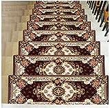 Escalera alfombra alfombra alfombra escalera peldaños escaleras pisadas almohadillas sedestep alfombras alfombras alfombras rectángulo escalera elevador piso autoadhesivo resistente a los patines 30x1
