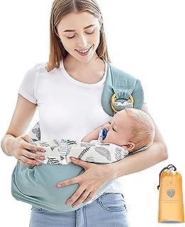 comprar comparacion Azeekoom Mochila Portabebés Ergonómica, Mantas de Lactancia Fulares Portabebes con Cinturón de Fijación Big Pocket para Re...