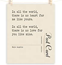 Maya Angelou Quote Wall Art, Paper 1st Anniversary, Cotton 2nd, Sizes 5x7-12x16 **Unframed**