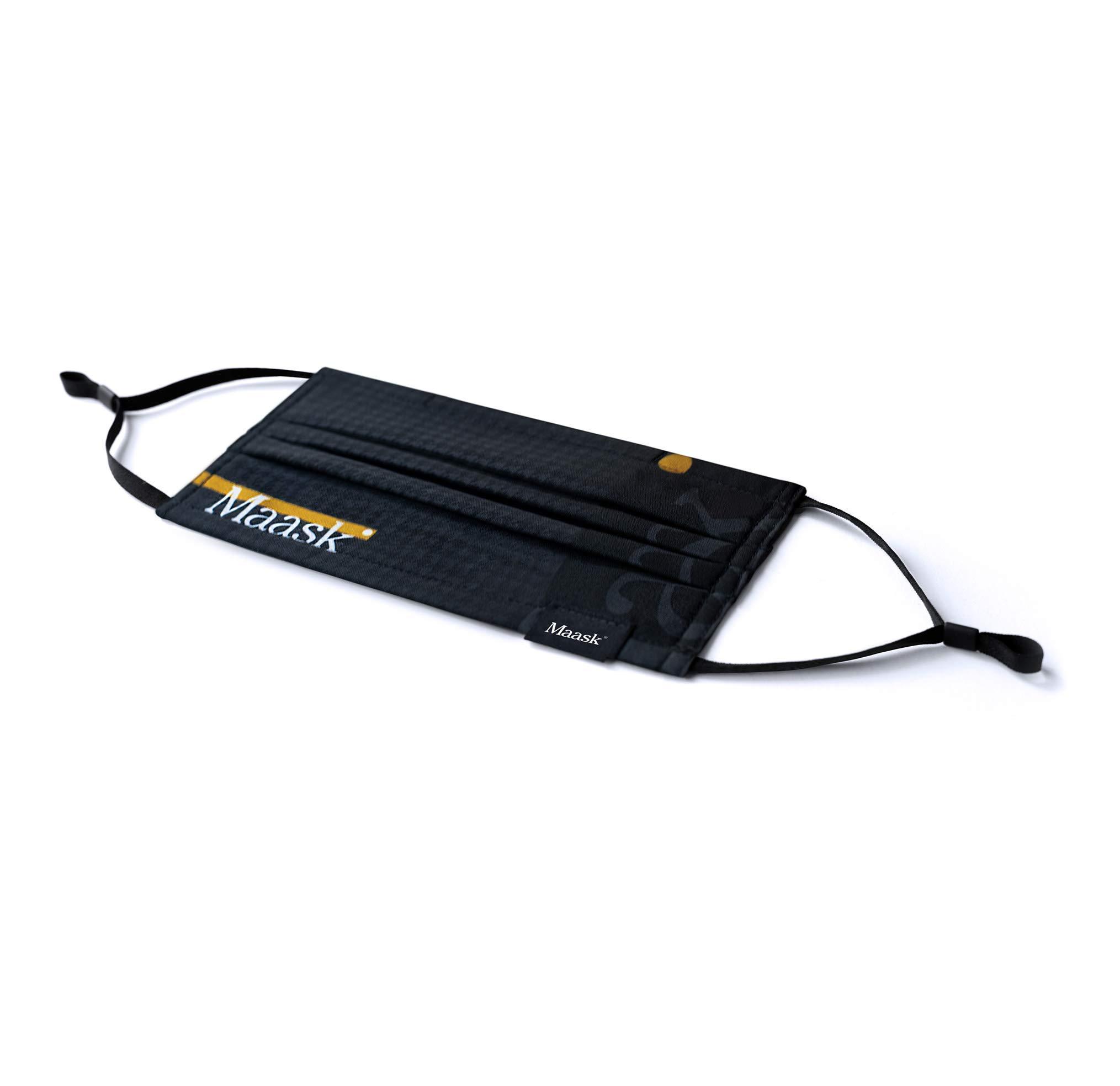 MAASK Shield Houndstooth MASCARILLA HIGIENICA Reutilizable, Adultos Unisex, Negro: Amazon.es: Deportes y aire libre