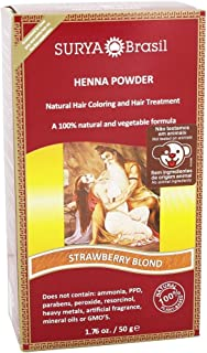 Surya Brasil - 100% Natural and Vegetable Henna Powder Strawberry Blonde - 1.76 fl. oz.