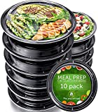 Meal Prep Containers [10 Pack] - Reusable Plastic Containers with Lids - Disposable Food Containers...