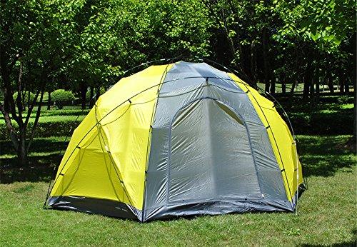 HONEYY Outdoor 8-10 Bunk DREI Tore Regen Mongolei Paket Camping Feld Zelt 380 * 330 * 195 cm, einen zusätzlichen Platz