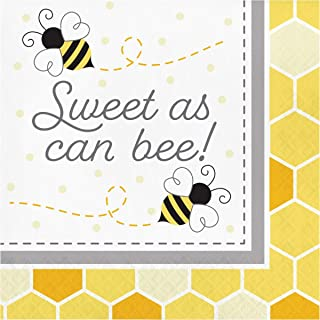 Creative Converting Bumblebee Baby Sweet As Can Be Napkins 16-Pieces, Multicolour