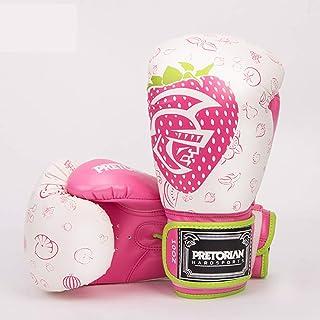 Wazenku 4色2サイズ ボクシンググローグ パンチングミット 高通気性 ずれにくく 厚いクッション ボクシングジム ボクシング ムエタイ テコンドー サンダ MMA 総合格闘技 (色 : ピンク, サイズ : 12OZ)