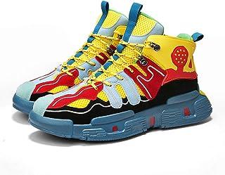 Trendy Sports Men's Shoes, Autumn New Men's Mesh Shoes, Fashionable Retro Outdoor Casual Shoes,Yellow,41