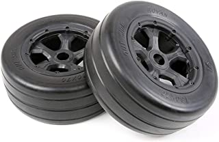 HONG YI-HAT Wheel tire tyre for 1/5 scale Losi 5IVE-T ROVAN LT KING MOTOR X2 スペアパーツ (Color : 1 pair)