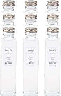 Mサイズ 国産 ハーバリウム用ガラス瓶(四角) hanaoil 9本セット プリザーブドフラワー・ドライフラワー用