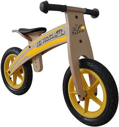 "Tour De France - Bicicleta de Balance elaborada de Madera y para Llantas de 12"" (30 cm)"