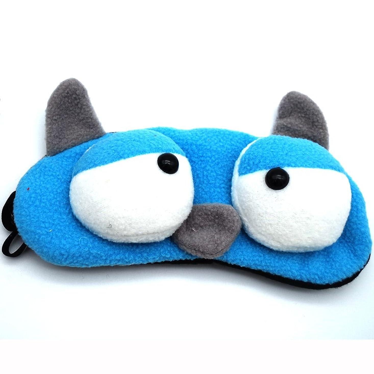 突撃伝記シャワーNOTE 1ピースかわいい動物睡眠アイマスクパッド入りシェードカバーフランネル睡眠マスク休息旅行リラックス睡眠補助目隠しカバーアイパット