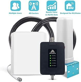 ANYCALL Amplificador Cobertura Movil 2G//3G//4G 5-Banda Repetidor Se/ñal Movil 800//900//1800//2100//2600MHz Mejorar la Red y Llamar para Casa//Oficina//Coche//Carro//RV
