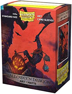 Dragon Shield Art Card Sleeves Halloween Dragon 100 Sleeves for Standard Cards