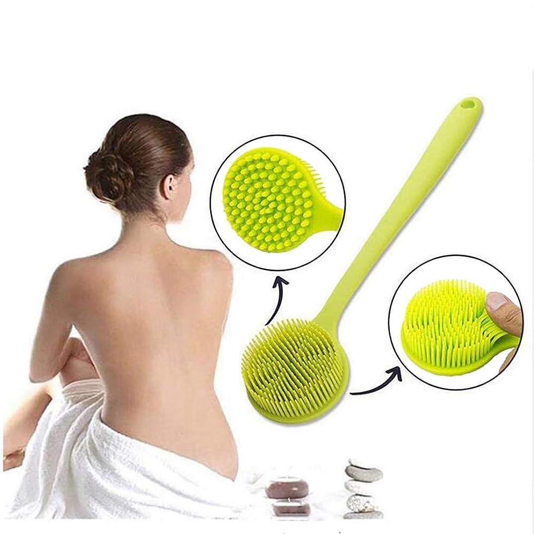 置くためにパック普通の乳製品ポータブル シャワーブラシ ソフトシリコンボディバス バックスクラバー ロングハンドル 肌の角質除去 バスルームクリーニング