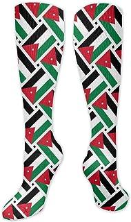 MISS-YAN, Calcetines Jordan Flag Wee para hombres y mujeres, divertidos, deportivos, deportivos, sobre la piel