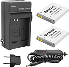 Bonadget NB-4L Battery Charger Set, 1200mah 2-Pack CB-2LV Replacement Battery Compatible with Canon PowerShot ELPH 100/300/310 HS, SD1000/1100 IS/1400 is, SD200, SD30/300, SD40/400/430/450, SD600/630