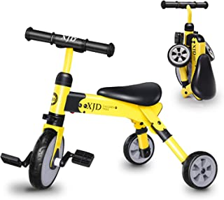2 in 1 Kids Tricycles for 2 3 4 Years Old and Up Boys Girls Tricycle Kids Trike Toddler Tricycles for 2-4 Years Old Kids T...