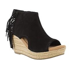 8f95e2412 Minnetonka Women s Blaire Wedge Sandals - 71330Blk