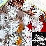 30 Stück Schneeflocken Stern Schnee 10cm Weihnachtssterne Dekostern Fensterdeko Weihnachtsschmuck...