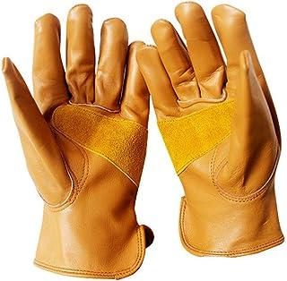 ガーデニングトレーニングクラフトワークグローブ 手袋ガーデニング用品短いフルレザーソフト耐摩耗保護ガーデンは、家庭用に適しています 男性用?女性用