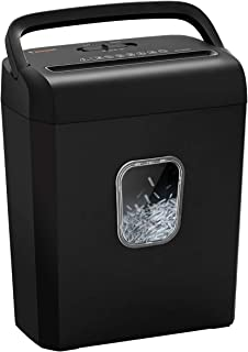 Bonsaii 6-Sheet Micro-Cut Paper Shredder, P-4 High-Security for Home & Small Office Use, Shreds Credit Cards/Staples/Clips...