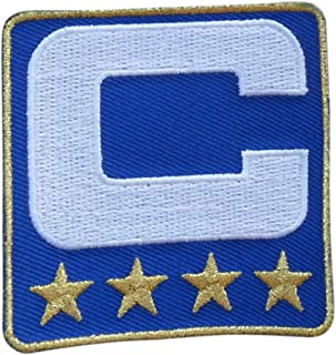 Royal Blue w/ 4 Gold Stars Captain C Patch Iron On for Football Jersey (Buffalo)