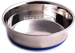 "Pets Empire Heavyweight Non-Skid Rubber Bottom Stainless Steel Dog Bowl (1600 ML- 8"" Diameter)"