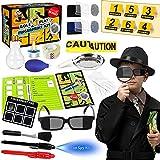 Tacobear Kit de Detective para Niños Kit de espía con Detective Disfraz Boligrafo Tinta Invisible Huellas Dactilares...