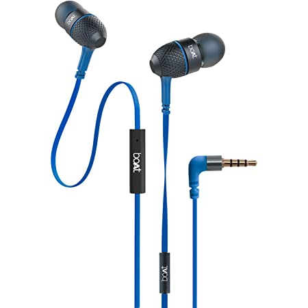 boAt Bassheads 225 in Ear Wired Earphones with Mic(Blue)