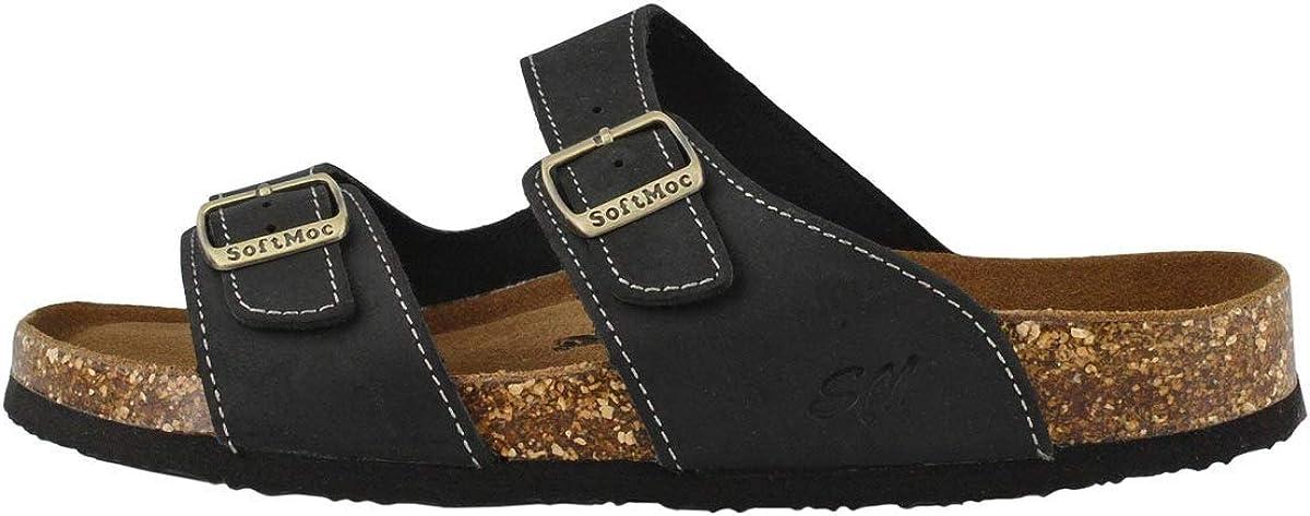 SoftMoc Men's Baz Cork Footbed Slide Sandal Our shop OFFers the best service latest Medium Black US 12