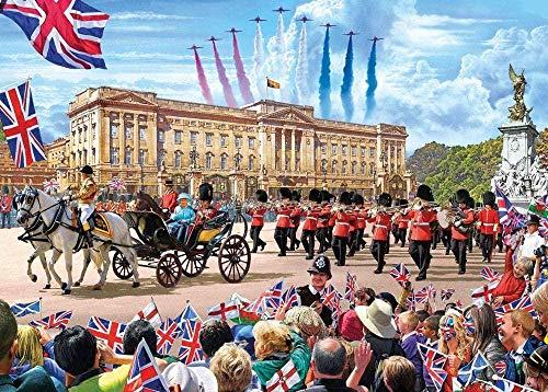 WXLSL Puzzle Für Erwachsene 1000 Stück Kinder Alter 8 Jahre Altes Spielzeug Für Männer Frauen Kinder Jungen Mädchen Kunst Dekoration Landschaft Poster Buckingham Palace