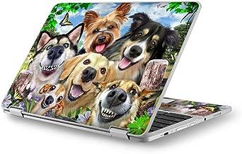 Selfie Dogs Delight - Custom Fits Acer Chromebook Laptop Notebook Skin Vinyl Sticker Cover Decal