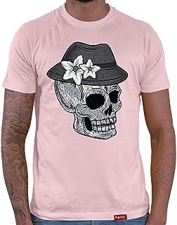 HARIZ Herren T-Shirt Totenkopf Mit Wiesn Hut Vintage Oktoberfest Outfit Plus Geschenkkarte
