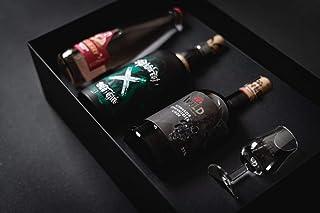 Premium Cocktail Mix Geschenkset für Gin-Cocktail in edlem Geschenketui 35-42% Vol. 1 x 0,7 l  1 x 0,5 l - Blackforest Wild Gin, Schwarzer Johannisbeerlikör, Gläschen und Rezeptkarte