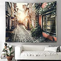 European Street Decorative Wall Tapestries Mandala Wall Hanging Sunflower Tropical Wall Tapestry Sunset Scenery 150cmX200cm