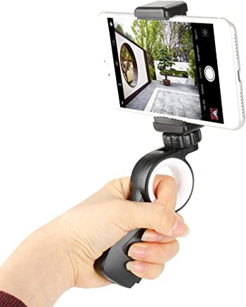Aoile Universal Handheld Mobile Phone Camera Ring Gimbal Stabilizer Handle Grip for iPhone Samsung Huawei Xiaomi for GoPro Cameras Phone Clip